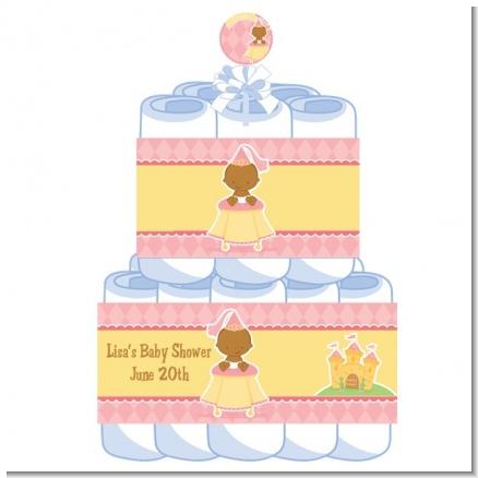 2 tier Little Princess African American Baby Shower Diaper ...