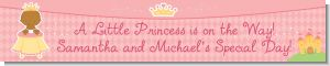 Little Princess African American - Personalized Baby Shower Banners