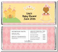 Little Princess African American - Personalized Baby Shower Candy Bar Wrappers