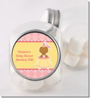 Little Princess African American - Personalized Baby Shower Candy Jar