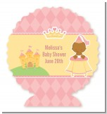 Little Princess African American - Personalized Baby Shower Centerpiece Stand