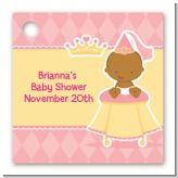 Little Princess African American - Personalized Baby Shower Card Stock Favor Tags