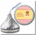 Little Princess African American - Hershey Kiss Baby Shower Sticker Labels thumbnail