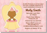 Little Princess African American - Baby Shower Invitations