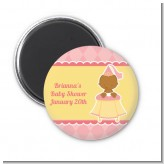 Little Princess African American - Personalized Baby Shower Magnet Favors