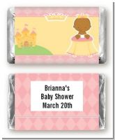 Little Princess African American - Personalized Baby Shower Mini Candy Bar Wrappers