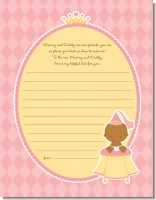 Little Princess African American - Baby Shower Notes of Advice