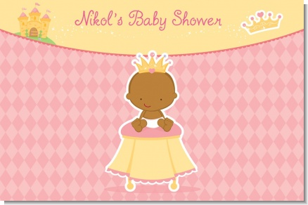 Little Princess African American - Personalized Baby Shower Placemats