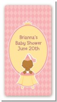 Little Princess African American - Custom Rectangle Baby Shower Sticker/Labels