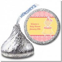 Little Princess - Hershey Kiss Baby Shower Sticker Labels