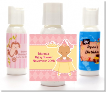 Little Princess Hispanic - Personalized Baby Shower Lotion Favors