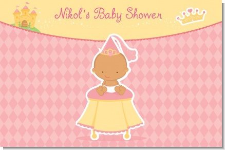 Little Princess Hispanic - Personalized Baby Shower Placemats