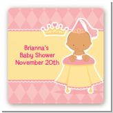Little Princess Hispanic - Square Personalized Baby Shower Sticker Labels