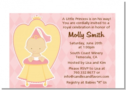 Little Princess - Baby Shower Petite Invitations
