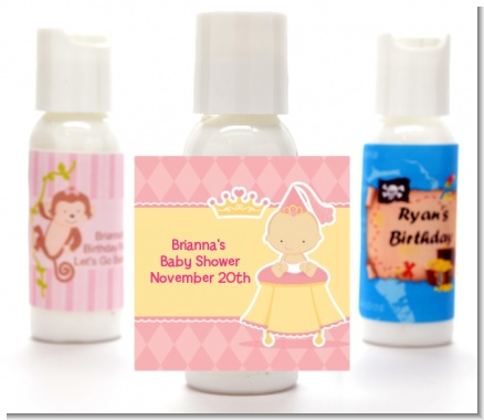 Little Princess - Personalized Baby Shower Lotion Favors