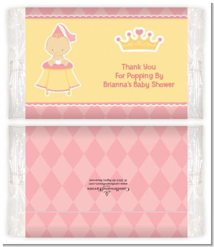 Little Princess - Personalized Popcorn Wrapper Baby Shower Favors