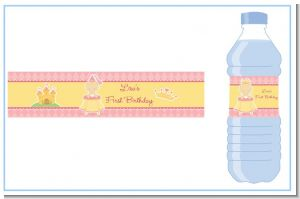 Little Princess - Personalized Birthday Party Water Bottle Labels