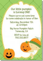 Little Pumpkin Asian - Birthday Party Invitations