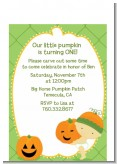Little Pumpkin Asian - Birthday Party Petite Invitations