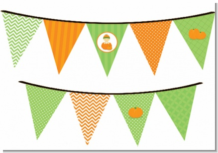 Pumpkin Baby Asian - Baby Shower Themed Pennant Set