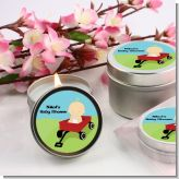 Little Red Wagon Baby Shower Candle Favors