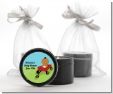Little Red Wagon - Baby Shower Black Candle Tin Favors