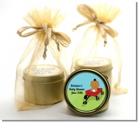 Little Red Wagon - Baby Shower Gold Tin Candle Favors