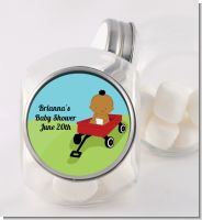 Little Red Wagon Personalized Baby Shower Candy Jar