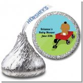 Little Red Wagon - Hershey Kiss Baby Shower Sticker Labels