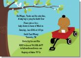 Red Wagon Baby Shower Invitations