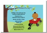 Little Red Wagon - Baby Shower Petite Invitations