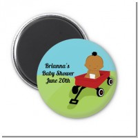Little Red Wagon - Personalized Baby Shower Magnet Favors