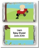 Little Red Wagon - Personalized Baby Shower Mini Candy Bar Wrappers
