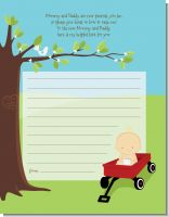 Little Red Wagon - Baby Shower Notes of Advice