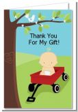 Little Red Wagon - Baby Shower Thank You Cards