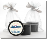 Little Slugger Baseball - Baby Shower Black Candle Tin Favors