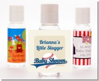 Little Slugger Baseball - Personalized Baby Shower Hand Sanitizers Favors