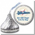 Little Slugger Baseball - Hershey Kiss Baby Shower Sticker Labels thumbnail