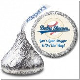 Little Slugger Baseball - Hershey Kiss Baby Shower Sticker Labels