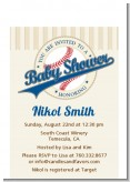 Little Slugger Baseball - Baby Shower Petite Invitations