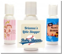 Little Slugger Baseball - Personalized Baby Shower Lotion Favors