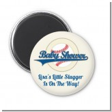 Little Slugger Baseball - Personalized Baby Shower Magnet Favors