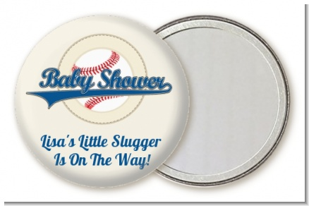 Little Slugger Baseball - Personalized Baby Shower Pocket Mirror Favors