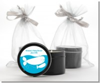 Little Squirt Whale - Baby Shower Black Candle Tin Favors