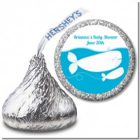 Little Squirt Whale - Hershey Kiss Baby Shower Sticker Labels