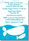 Little Squirt Whale - Baby Shower Invitations