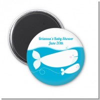 Little Squirt Whale - Personalized Baby Shower Magnet Favors