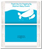 Little Squirt Whale - Personalized Popcorn Wrapper Baby Shower Favors