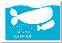 Little Squirt Whale - Baby Shower Thank You Cards