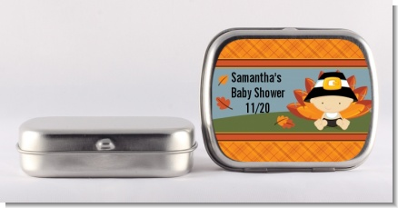 Little Turkey Boy - Personalized Baby Shower Mint Tins